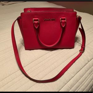 Micheal Kors Red satchel